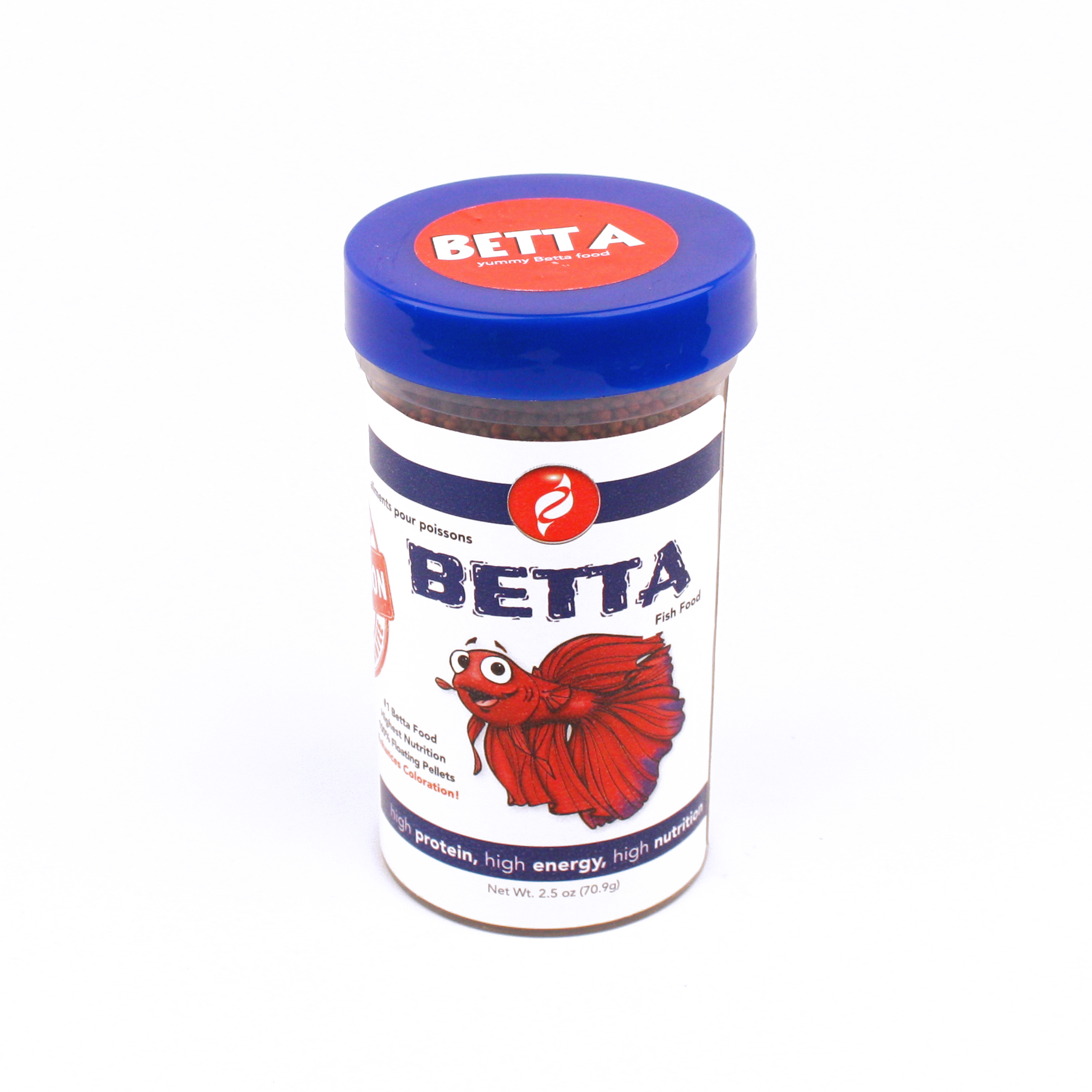 Hbh betta bites 1mm floating pisces pros for Beta fish food